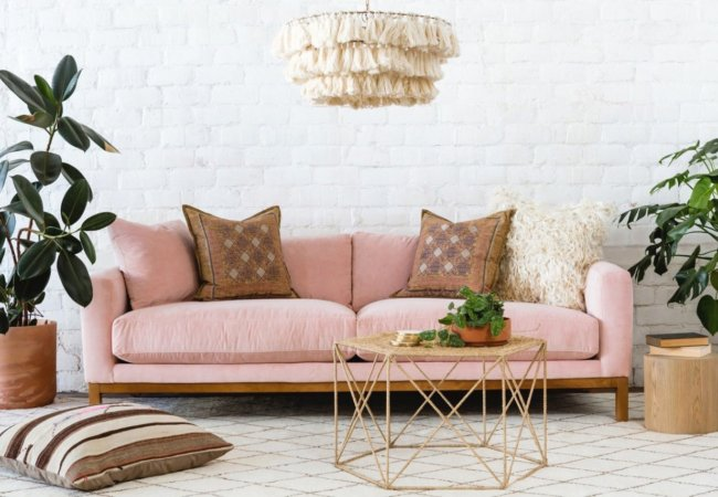 Colour trends: Nude pink in home decor